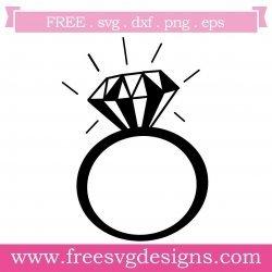 Diamond Ring Monogram Frame SVG