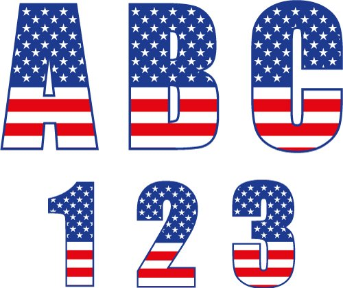 Free USA Monogram Font cut files at www.freesvgdesigns.com. Our FREE downloads includes OTF, TTF, SVG, PNG and DXF files for personal cutting projects. Free vector / printable / free svg images for cricut #freesvg #diycrafts #svg #cricut #silhouettecameo #svgfile #Independenceday