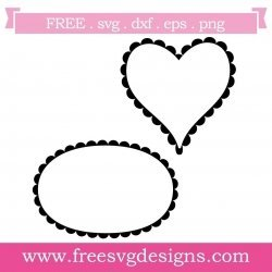 Free cute frame SVG