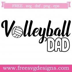 Volleyball Dad SVG