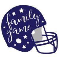 Family Game Football Helmet SVG