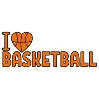 I Love Basketball SVG