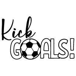 Kick Goals Soccer SVG