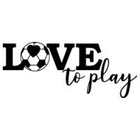 Love to Play Soccer SVG