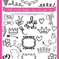 Doodle Art SVG Files