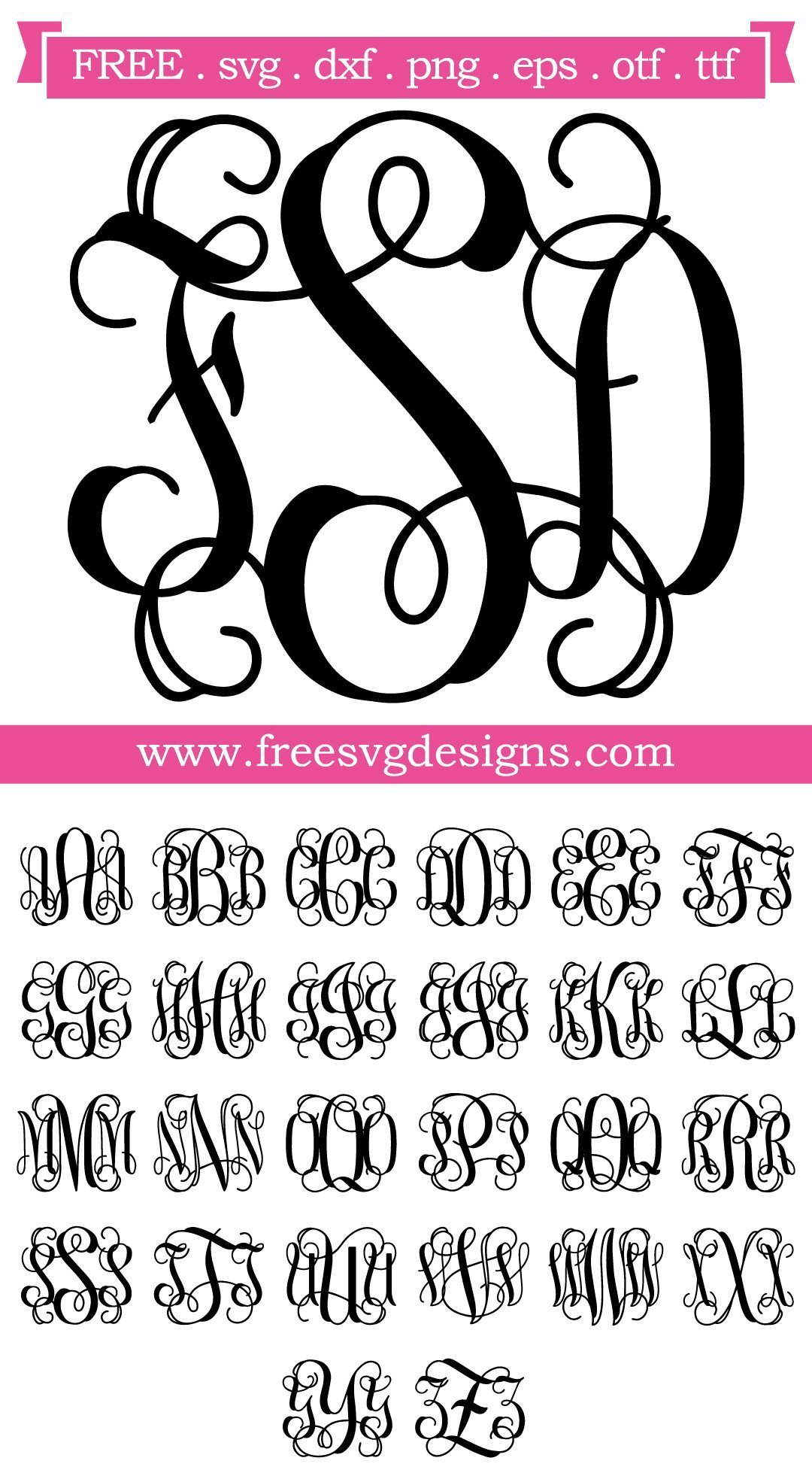 Download 22+ Free Svg Monogram Designs Pictures Free SVG files ...