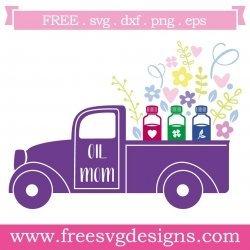 Pick Up Truck Oil Mom SVG