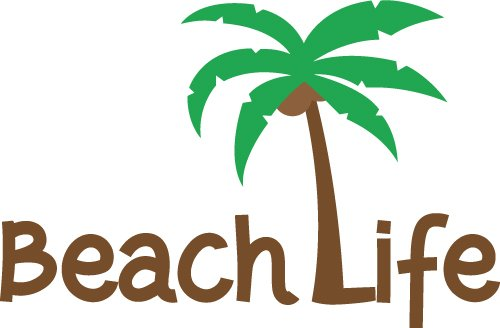 Quote Beach Life SVG