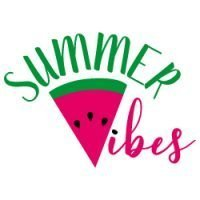 Quote Summer Vibes SVG