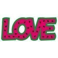 Quote LOVE Watermelon SVG