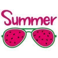 Quote Summer Watermelon Sunglasses SVG