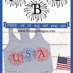 Fireworks Monogram Font SVG