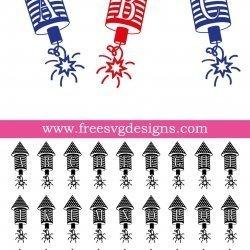 USA Firecracker Monogram Font SVG