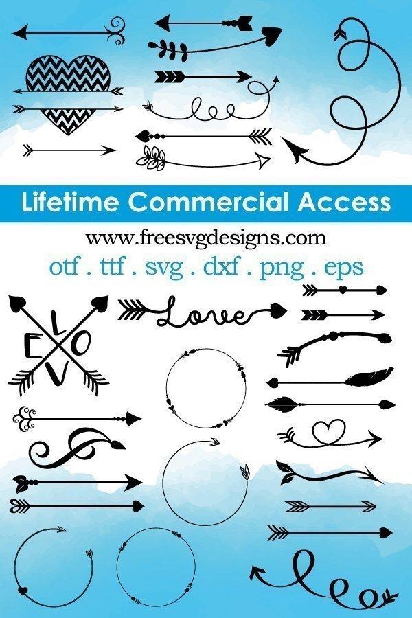 Lifetime Commercial license arrows