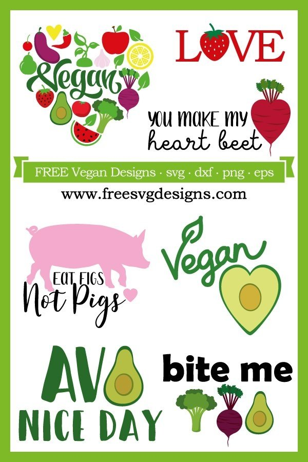 Vegan SVG designs