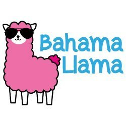 Bahama Llama SVG
