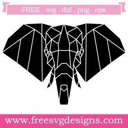 Elephant Polygon SVG
