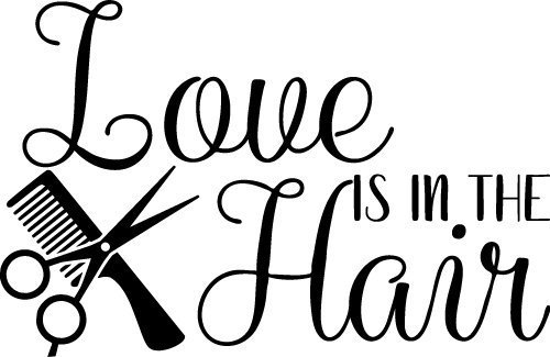 Free Svg Files Svg Png Dxf Eps Love Is In The Hair Design