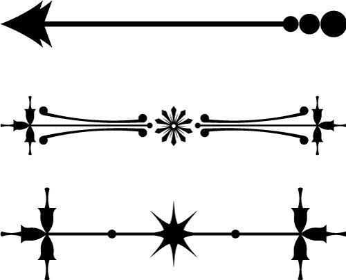 Vintage Arrow Line Break Elements SVG