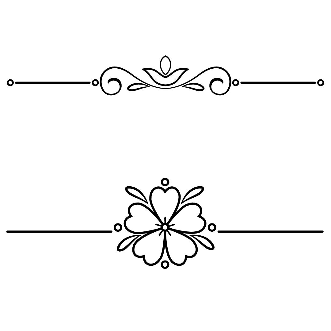 Vintage Line Break Elements SVG