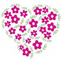Flowers Love Heart SVG