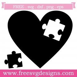 Love Heart Puzzle Piece SVG