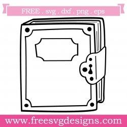 Locked Book Silhouette SVG