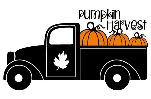 Quote Pumpkin Harvest Fall Pick Up Truck SVG