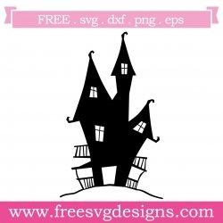 Halloween Haunted House SVG