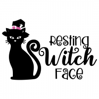 Quote Resting Witch Face Halloween SVG