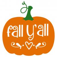 Quote Fall Yall Pumpkin SVG