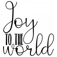 Quote Joy To The World SVG