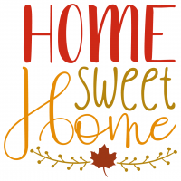 Quote Home Sweet Home SVG