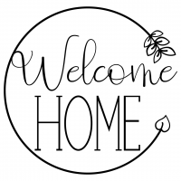 Quote Welcome Home SVG