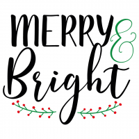 Quote Merry And Bright SVG