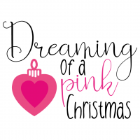 Quote Dreaming Of A Pink Christmas SVG