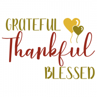 Quote Grateful Thankful Blessed SVG
