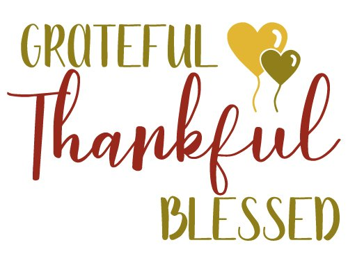 Free Svg Files Svg Png Dxf Eps Quote Grateful Thankful Blessed