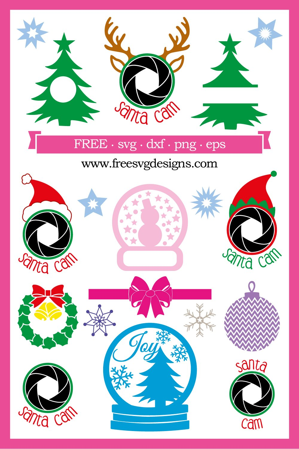 Free Christmas Designs For Your Personal Cutting Projects