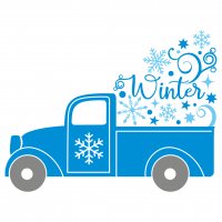 Quote Winter Pick Up Truck SVG