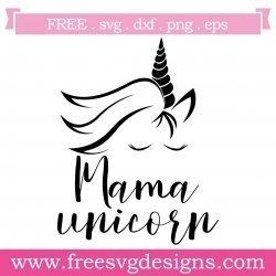 Quote Mama Unicorn Silhouette SVG