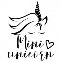 Quote Mini Unicorn Silhouette SVG