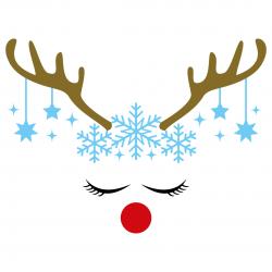 Reindeer Antlers Snowflakes SVG