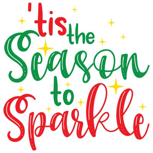Quote Tis The Season To Sparkle SVG
