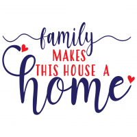 Quote Family Makes This House A Home SVG