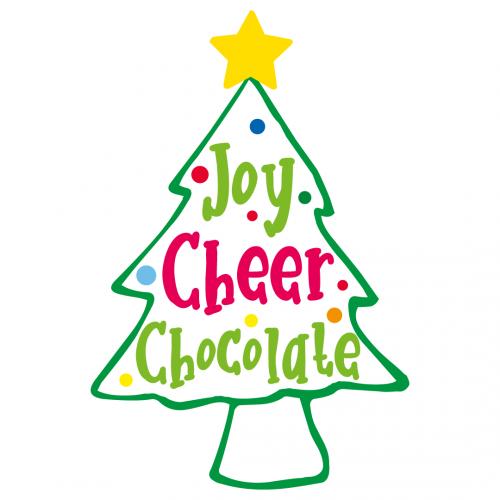 Quote Joy Cheer Chocolate Christmas Tree SVG