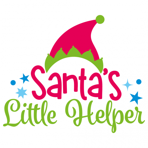 Free Svg Files Svg Png Dxf Eps Quote Santa S Little Helper