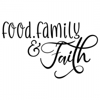 Quote Food Family And Faith SVG