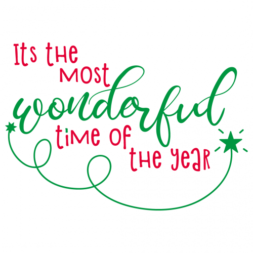 Quote Wonderful Time of the Year SVG