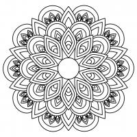 Mandala Floral SVG